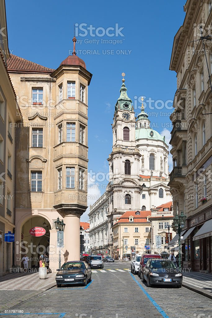 Mostecka street, Prague, Czech Republic stock photo