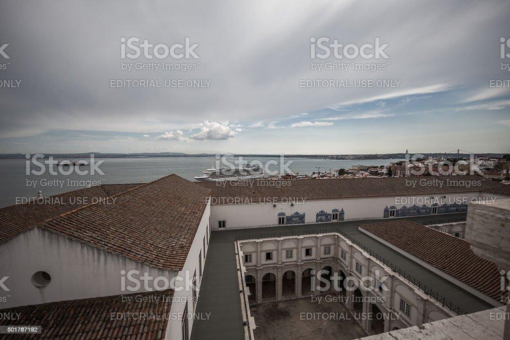 Mosteiro de São Vicente de Fora, Lisbon, Portugal stock photo