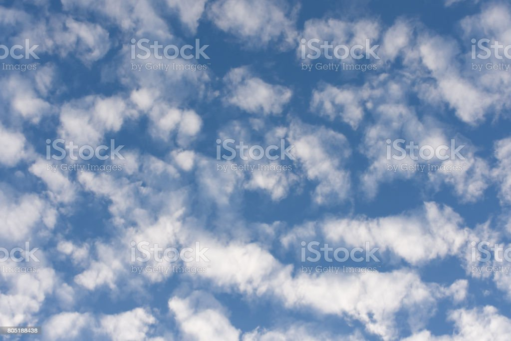 Mostly cloudy morning, scattered groups. stock photo
