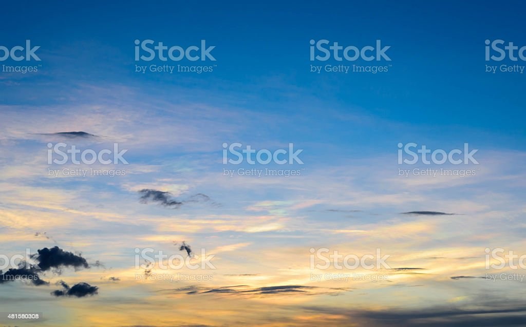 Mostly the evening when the sun went down. stock photo