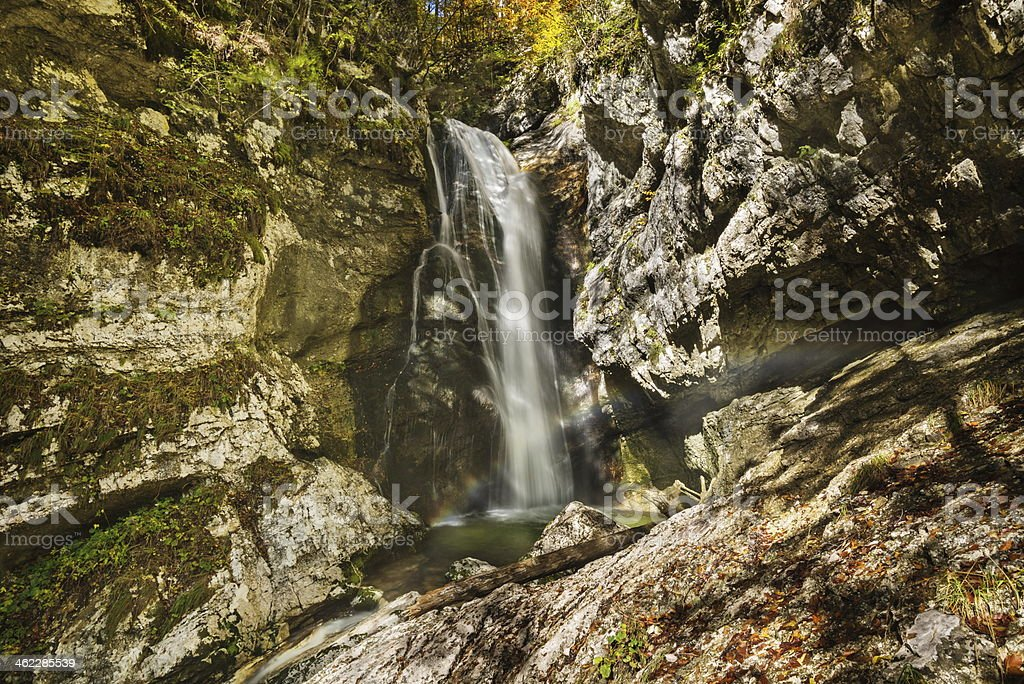 Mostnica waterfall stock photo