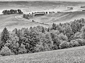 Countryside farmland in the Mostviertel area of Austria