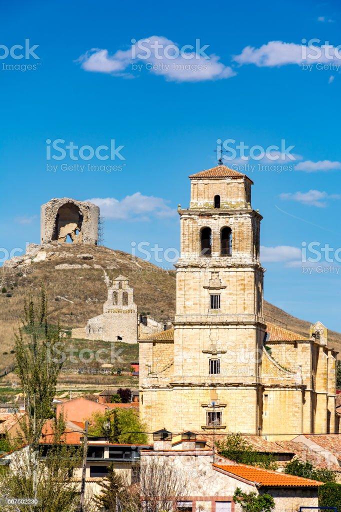 Mota del Marqués en Valladolid (España) foto stock royalty-free