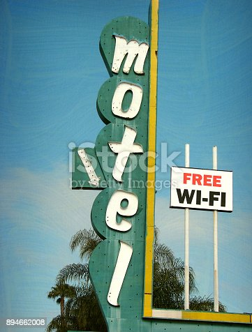 istock motel and wifi sign 894662008