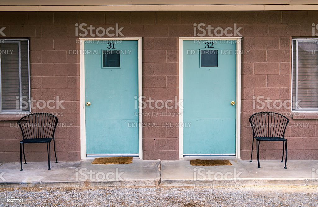 Motel doors royalty-free stock photo & Motel Doors Stock Photo \u0026 More Pictures of 2015 | iStock