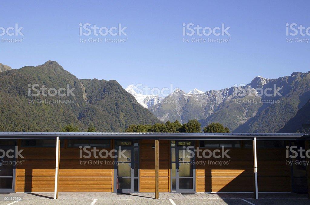 Motel Fox Glacier royalty-free stock photo