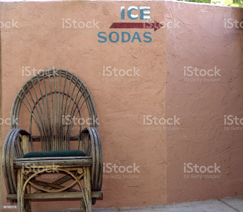 Motel in Arizona royalty-free stock photo