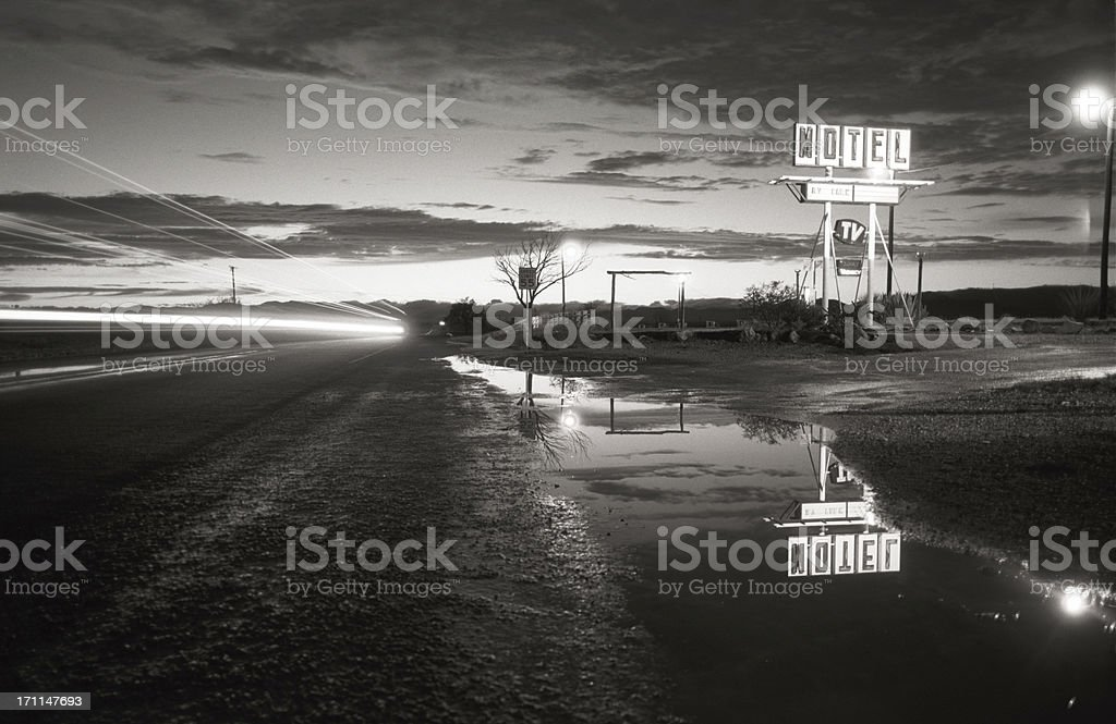 motel, retro - paris,texas stock photo