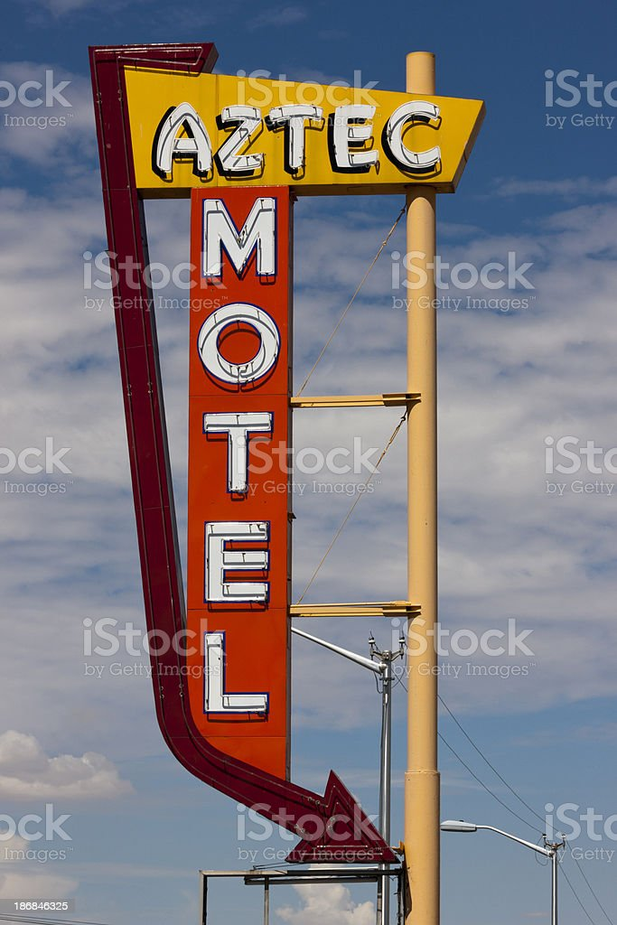 Motel Sign Abandoned on Route 66 royalty-free stock photo
