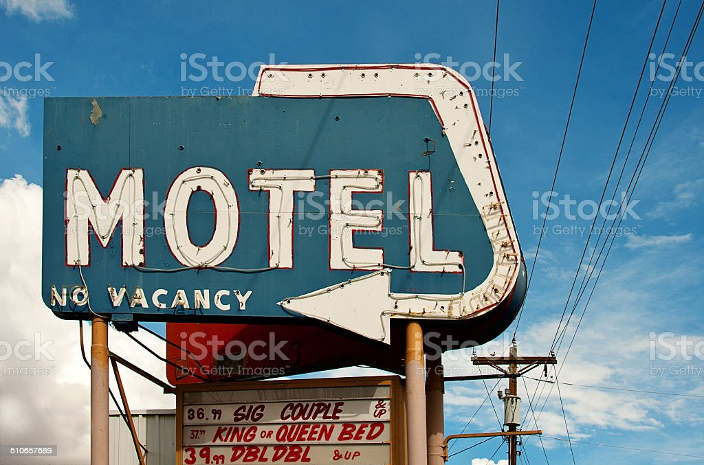 Motel Sign on Route 66 stock photo
