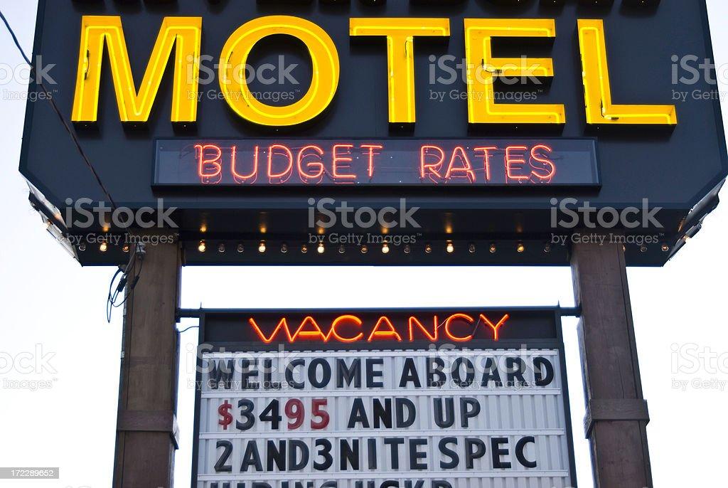 Motel Sign royalty-free stock photo