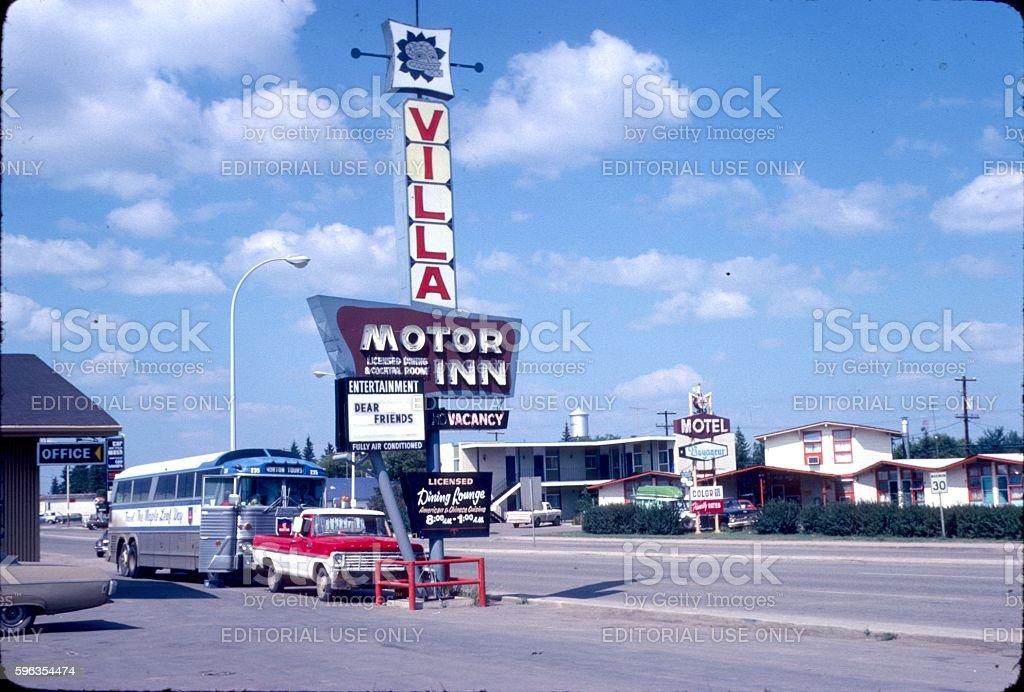 Motel stop on a highway, Panselvenya royalty-free stock photo