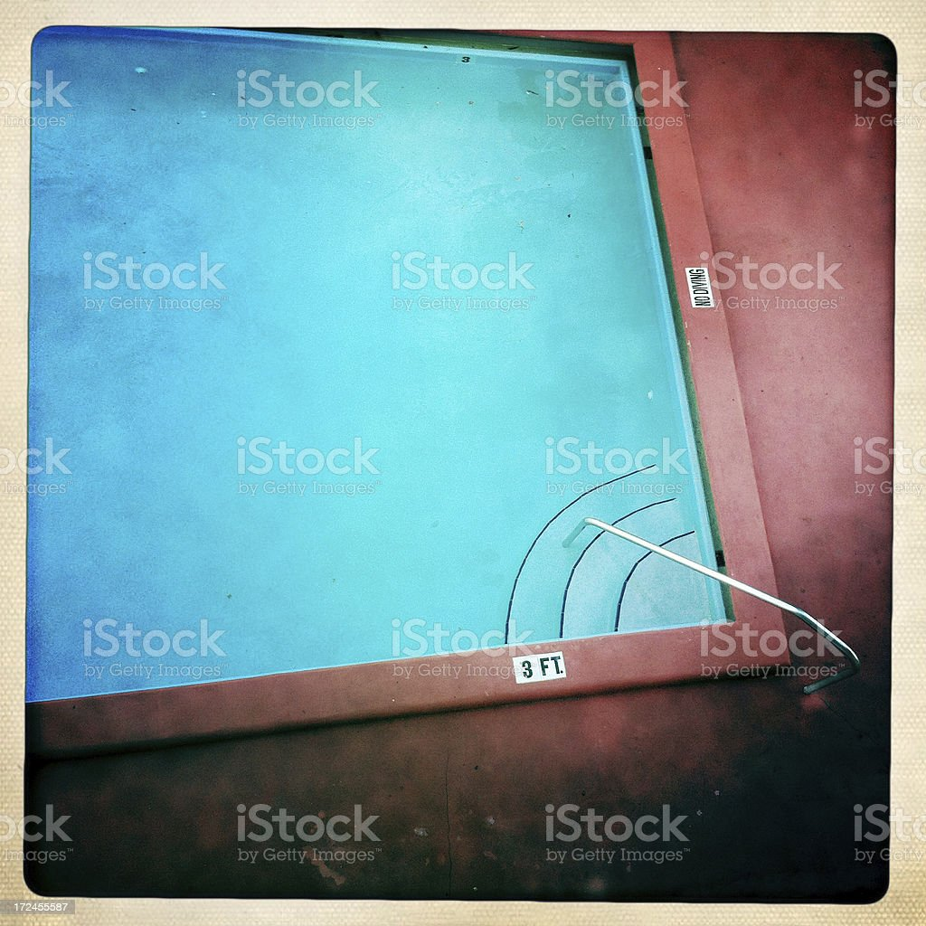 Motel Swimming Pool (Mobilestock) royalty-free stock photo