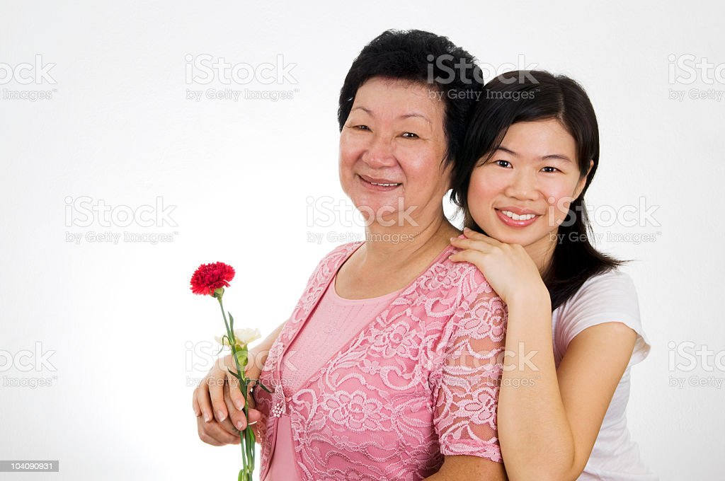 Mother & Adult Daughter royalty-free stock photo