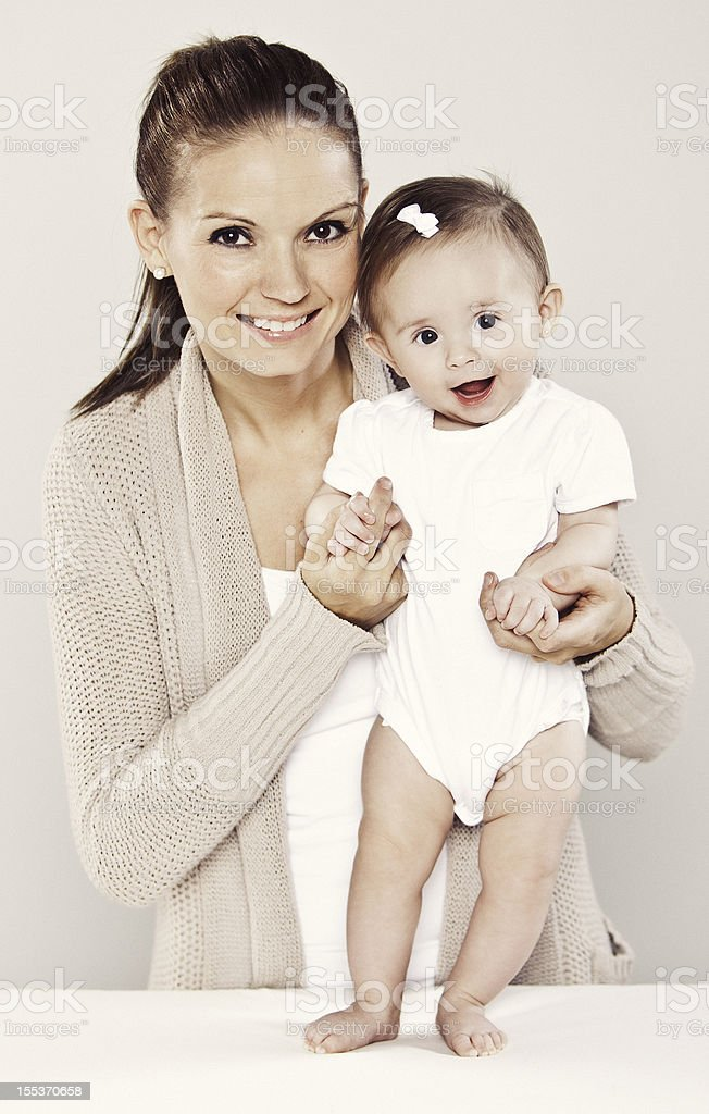 Mother and 6 Month Old Baby royalty-free stock photo