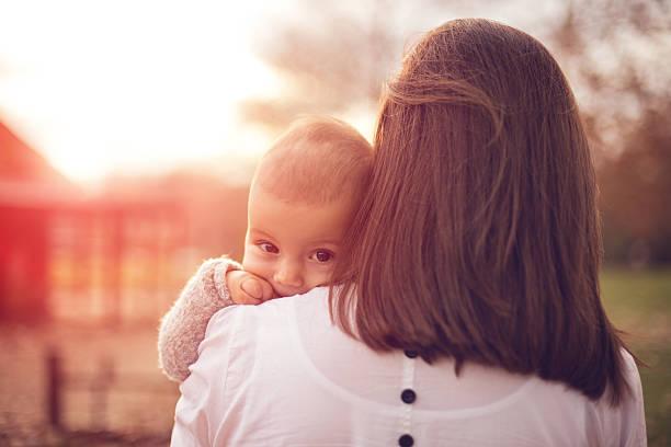 Mutter und baby – Foto