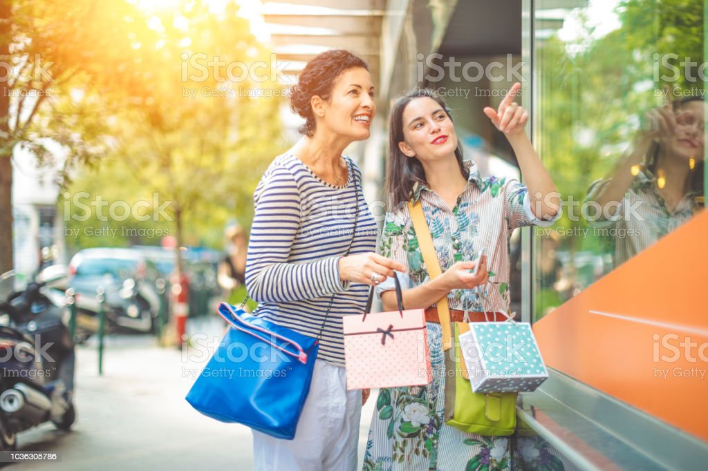 Image result for window shopping mother and daughter