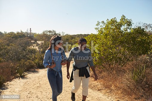 904170246 istock photo Mother And Adult Daughter Hiking Outdoors In Countryside 646020030