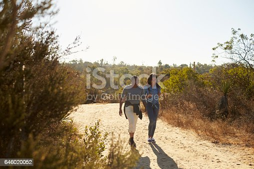 istock Mother And Adult Daughter Hiking Outdoors In Countryside 646020052