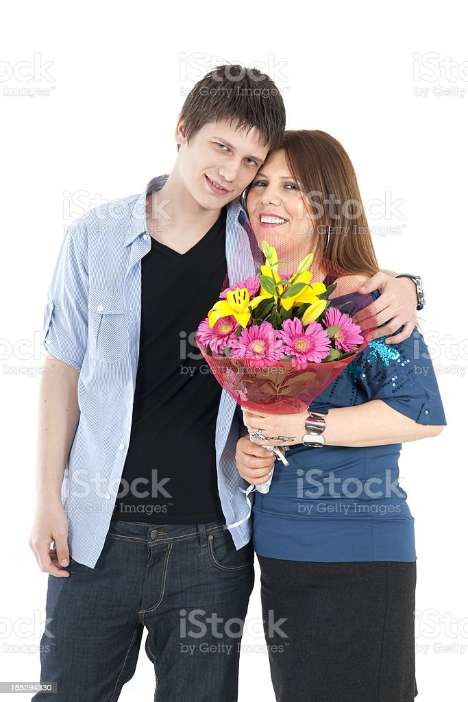 Mother And Adult Son Portrait royalty-free stock photo