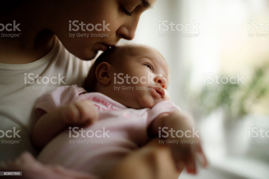 Mutter und baby im home – Foto