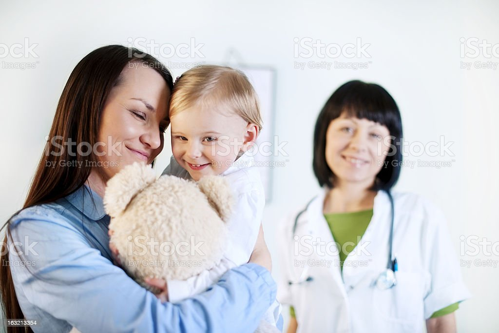 Mother and baby girl at the doctors office royalty-free stock photo