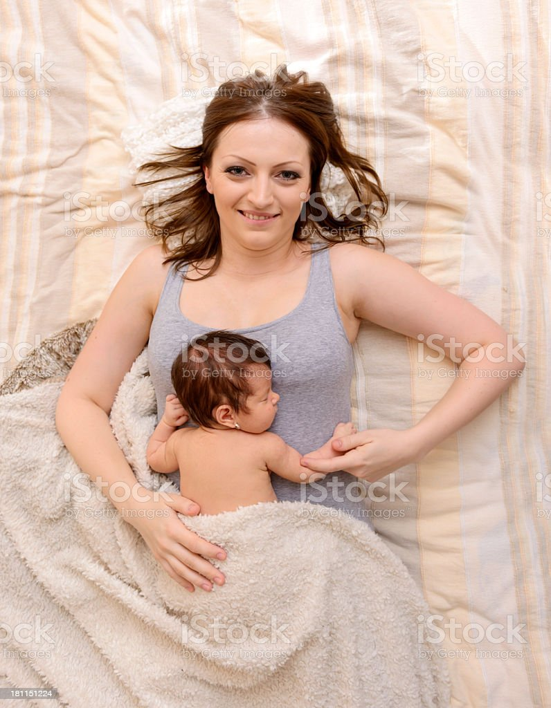 mother and baby girl royalty-free stock photo