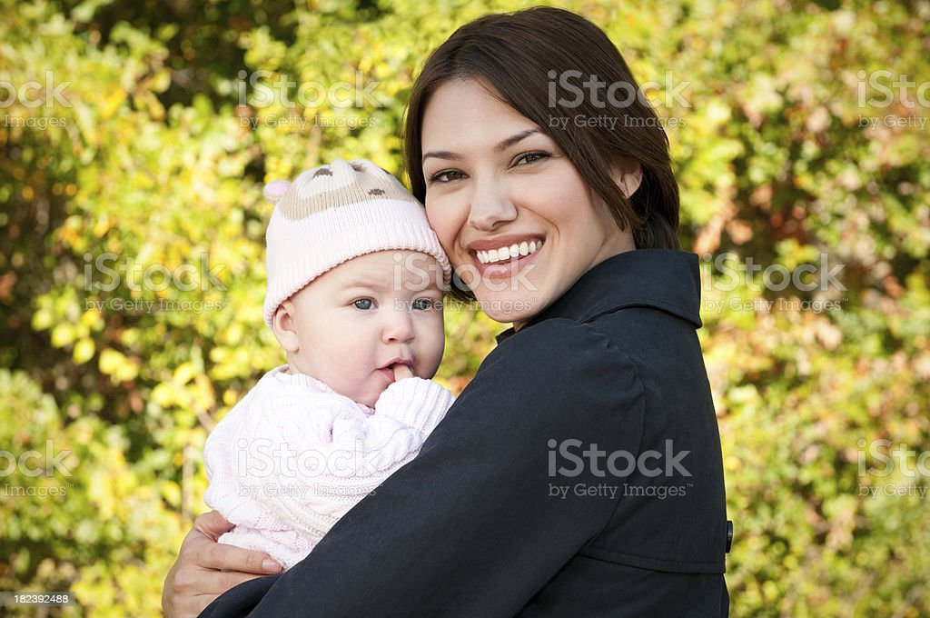mother and baby in the park royalty-free stock photo