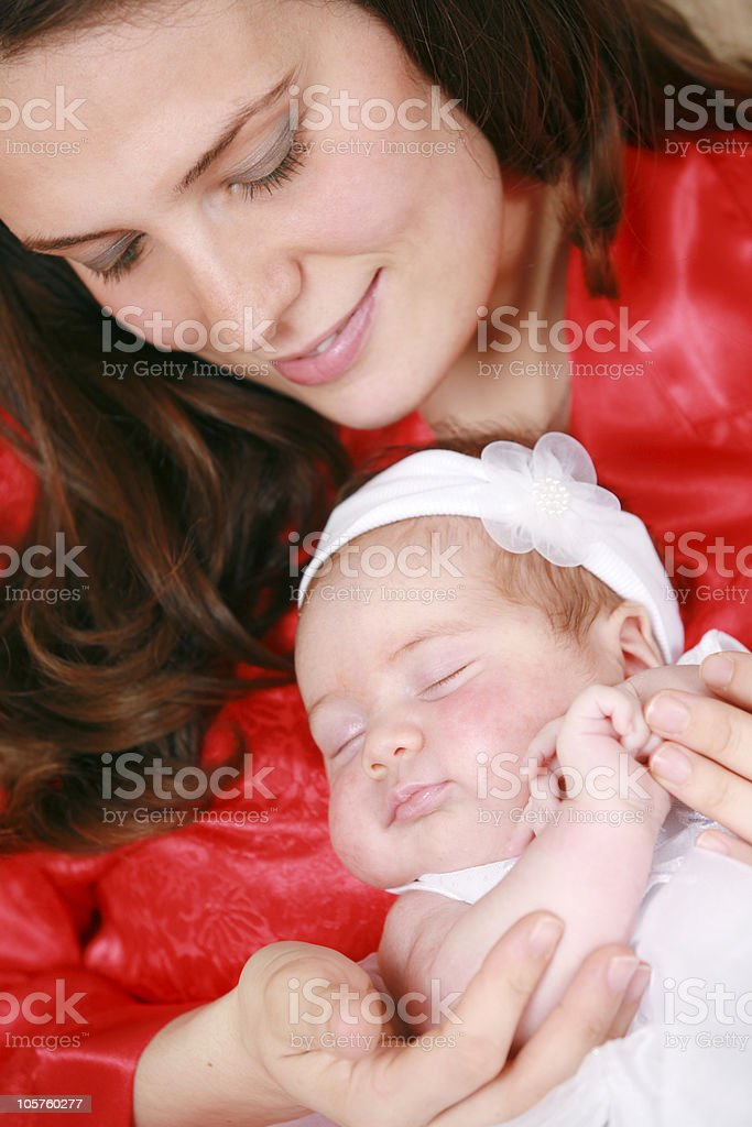 mother and baby series stock photo