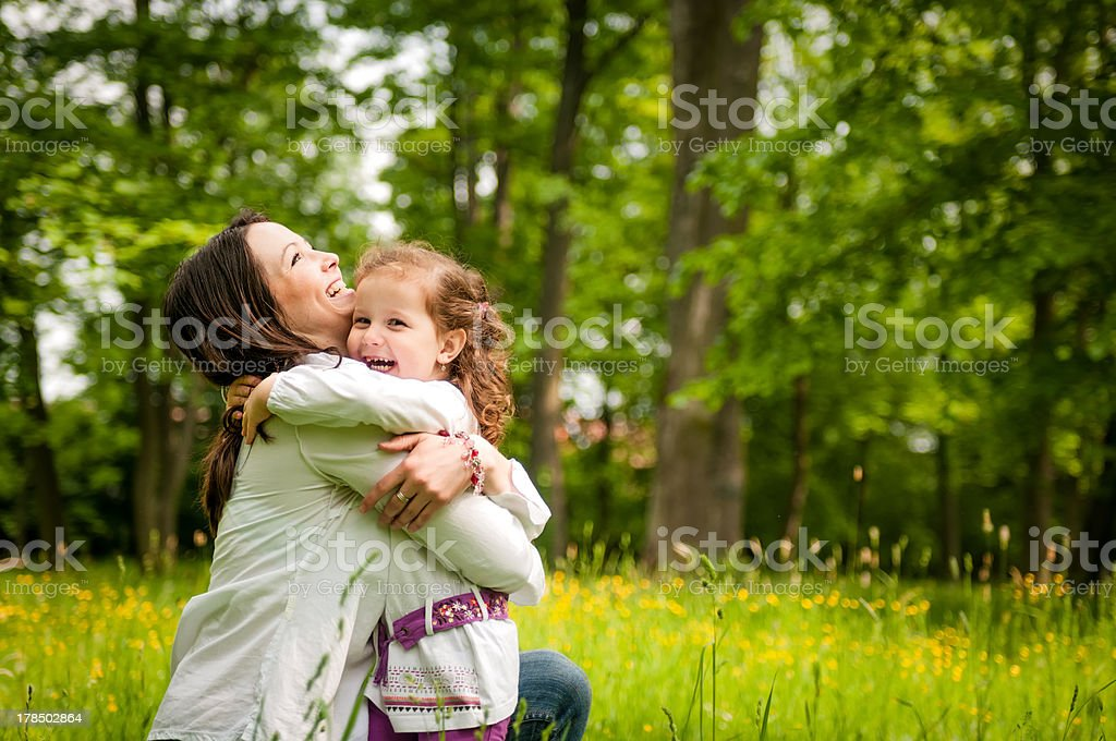 Mother and child - happy time stock photo