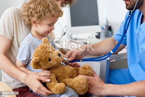istock Mother and Child in Pediatric Office 836423156