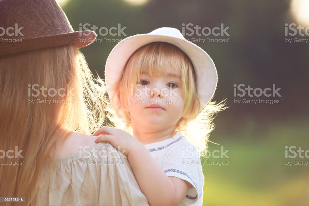 Mother and child outdoors - Royalty-free Adult Stock Photo