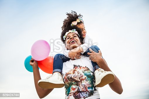 istock Mother and child play together celebrating 529424744