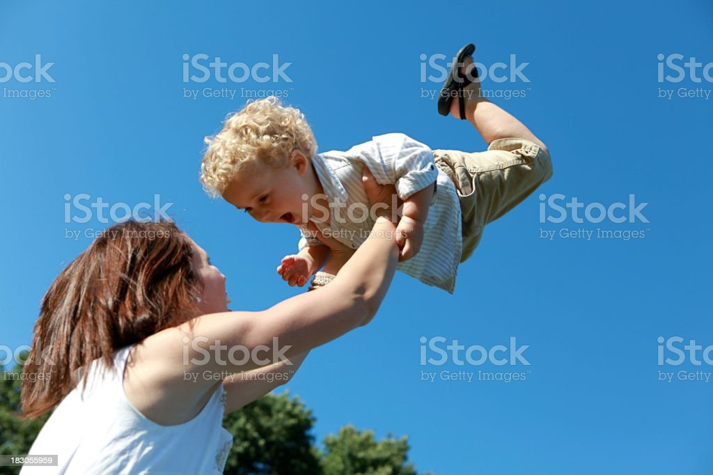 Mother and Child Playing royalty-free stock photo