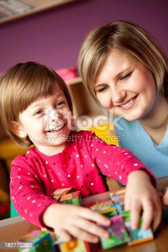 175496485 istock photo Mother and child playing together 182770380