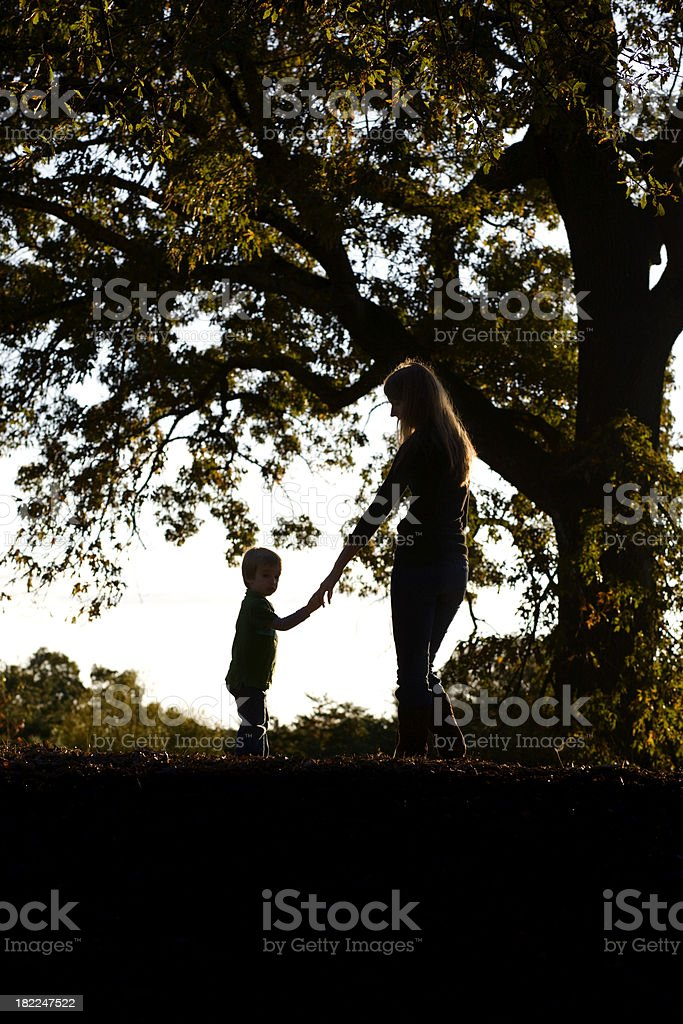 Mother and Child Silhouette royalty-free stock photo