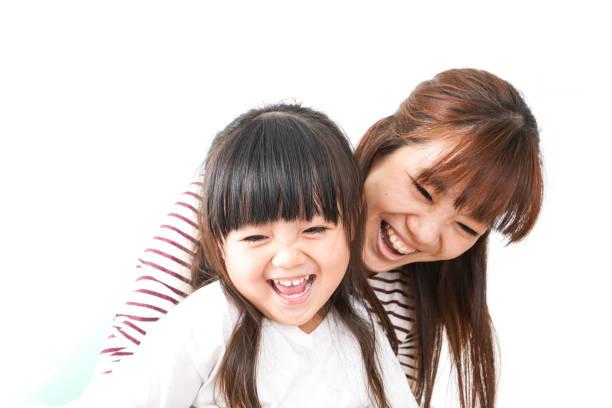 母と子の微笑み ストックフォト