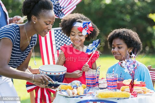1091098220istockphoto Mother and children celebrating 4th of July 540995196