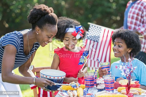 1091098220istockphoto Mother and children celebrating 4th of July 540995216