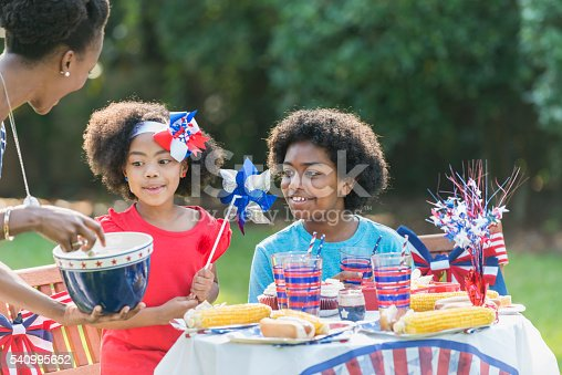 1091098220istockphoto Mother and children celebrating 4th of July 540995652