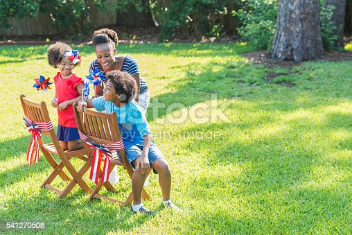 1091098220istockphoto Mother and children celebrating 4th of July 541270508