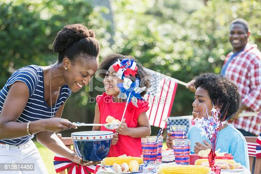 1091098220istockphoto Mother and children celebrating 4th of July 612614450