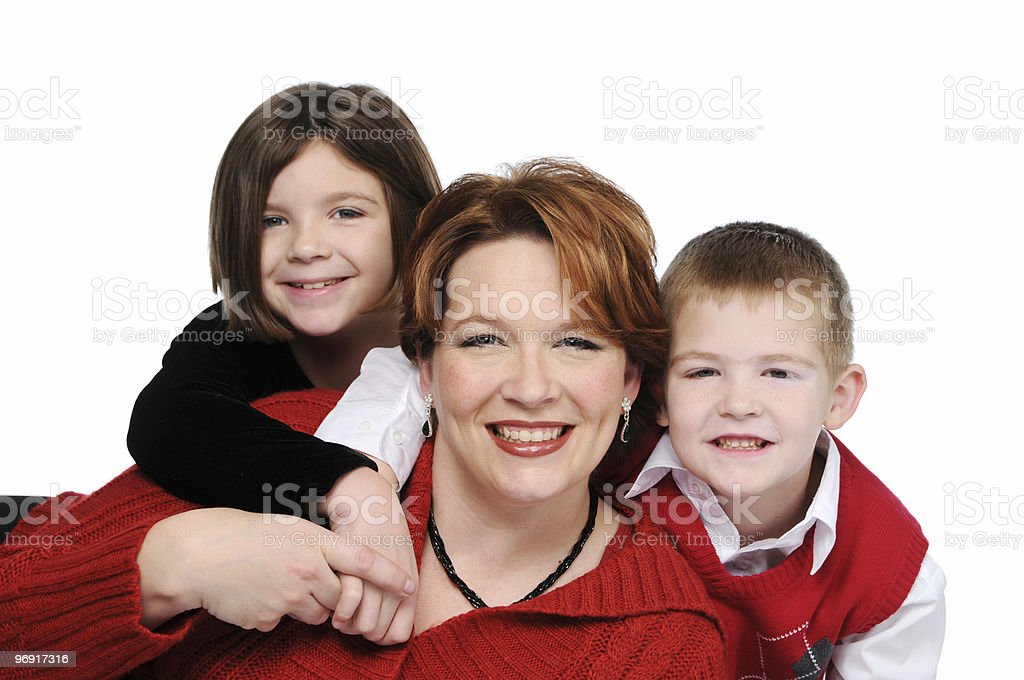 Mother and children royalty-free stock photo