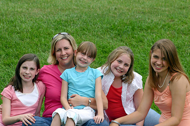 Mother and Children stock photo