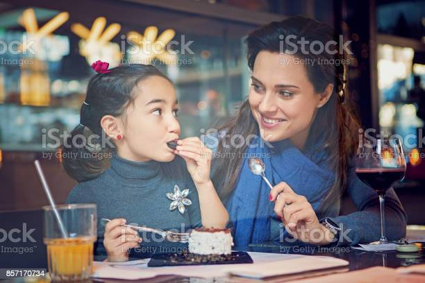Mother and daughter are eating a cake in the cafe picture id857170734?b=1&k=6&m=857170734&s=612x612&h=oo3unvchrb bxdz6bk7yjqjsfudbw0vateswjnwmvou=