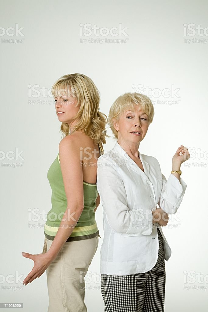 Mother and daughter arguing royalty-free stock photo