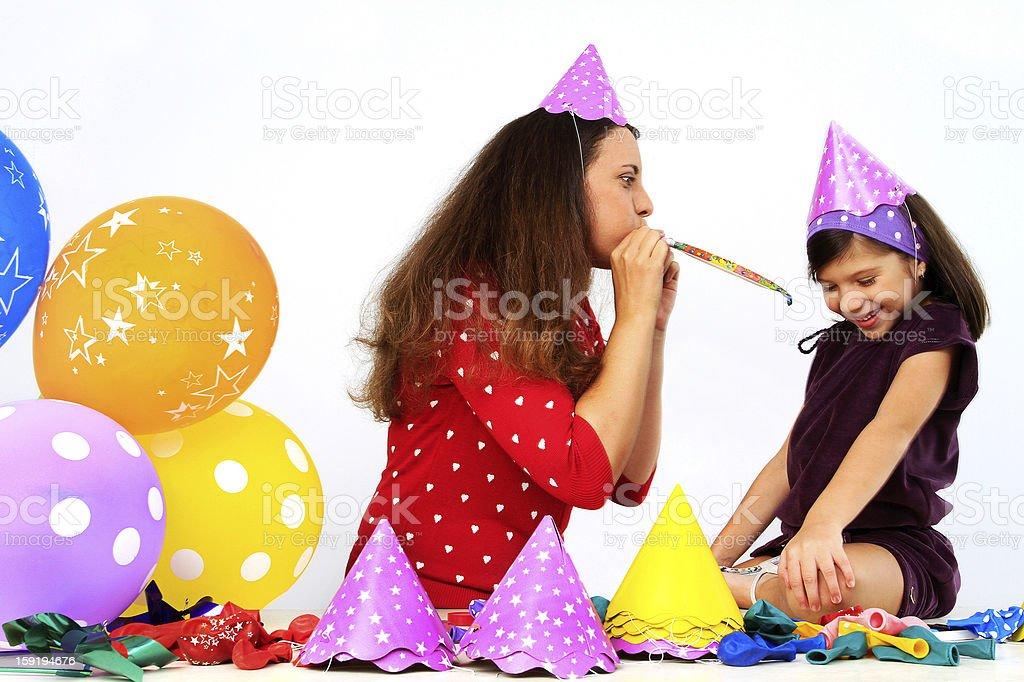 Fotografia De Madre E Hija Antes De La Fiesta De Cumpleanos Y Mas
