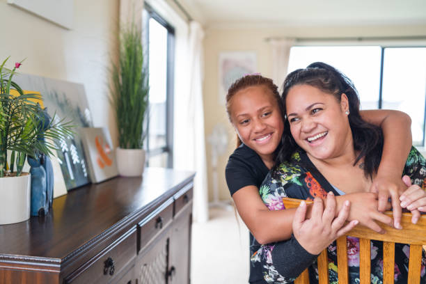 mother and daughter bonding. - maori stock photos and pictures