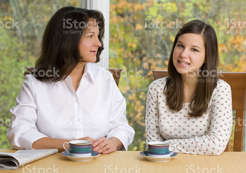 Mother and Daughter Chat royalty-free stock photo