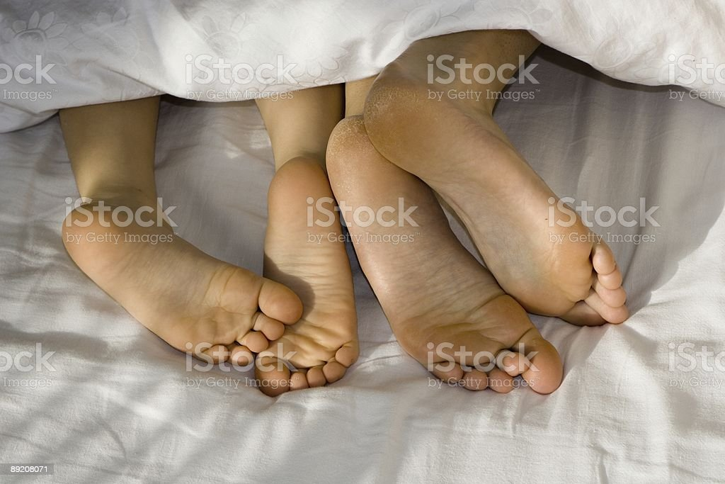 mother and daughter foots stock photo